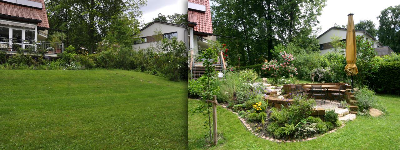 Vorher Nachher Natürliche Gärten Gartenplanung und Gartengestaltung Pflanzenpflege  ~ 11045240_Kleinen Garten Gestalten Vorher Nachher